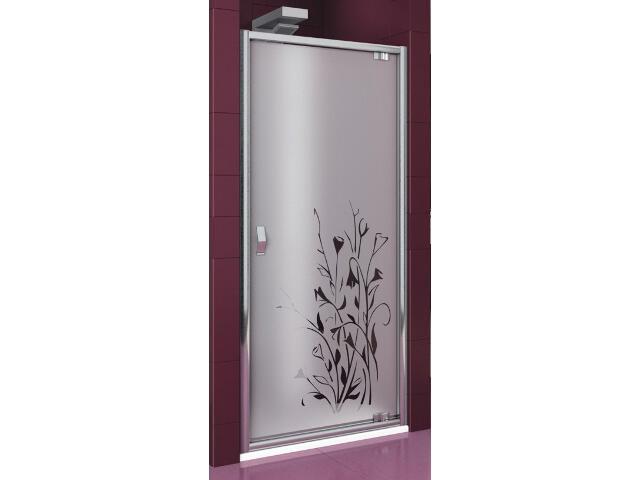 Drzwi prysznicowe SALGADO 90 uchylne profil chrom, szkło wzór kalia prawe 103-06013 Aquaform