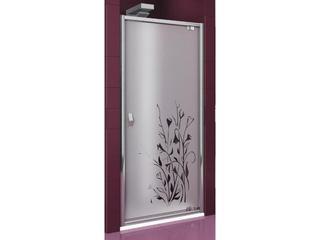 Drzwi prysznicowe SALGADO 100 uchylne profil chrom, szkło wzór kalia prawe 103-06014 Aquaform