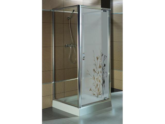 Drzwi prysznicowe SALGADO 90 do kabiny trójściennej szkło wzór prawe 103-06016 Aquaform