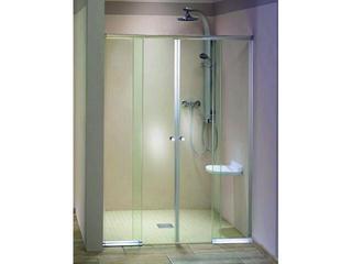 Drzwi prysznicowe SILHOUETTE podwójne wnękowe przesuwne 103-06411 Aquaform