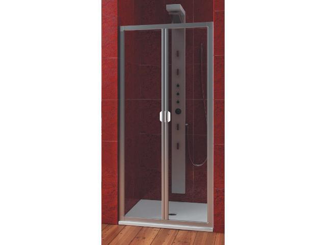Drzwi prysznicowe PROFILA 90 wnękowe harmonijkowe 103-06413 Aquaform