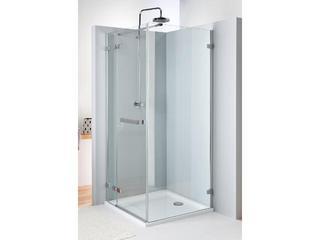 Drzwi prysznicowe NEXT skrzydłowe 90cm lewostronne z relingiem Reflex HDSF90222R03L Koło
