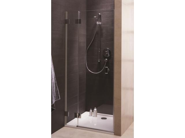 Drzwi prysznicowe NIVEN wnękowe skrzydłowe 90cm lewostronne Reflex FDRF90222003L Koło