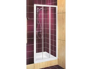 Drzwi prysznicowe AKORD rozsuwane 120cm szkło hartowane biały RDRS12222000 Koło