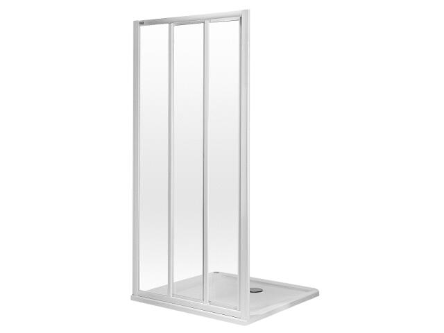 Drzwi prysznicowe ATOL PLUS rozsuwane 80cm szkło hartowane biały EDRS80222000 Koło