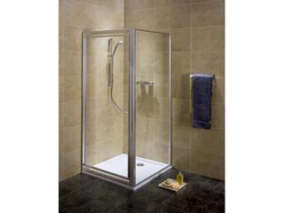 Drzwi prysznicowe AKORD PIVOT 90 profil srebrny połysk, szkło hartowane RDRP90222005 Koło