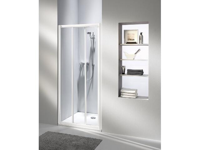Drzwi prysznicowe AKORD 80 rozsuwane profil biały, szkło hartowane RDRS80222000 Koło