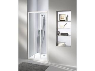 Drzwi prysznicowe AKORD 90 rozsuwane profil biały, szkło hartowane RDRS90222000 Koło