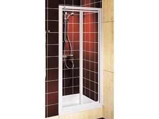 Drzwi prysznicowe AKORD skrzydłowe 90cm szkło hartowane biały RDRF90222000 Koło