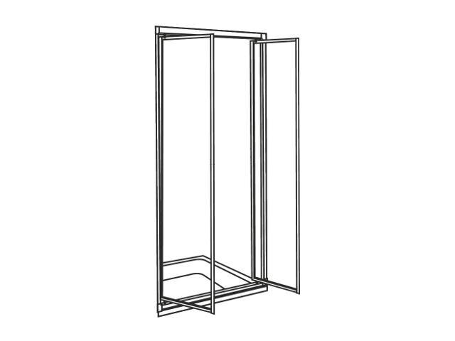 Drzwi prysznicowe AKORD skrzydłowe 80cm szkło hartowane ze wzorem CREPI biały RDRF80202000 Koło