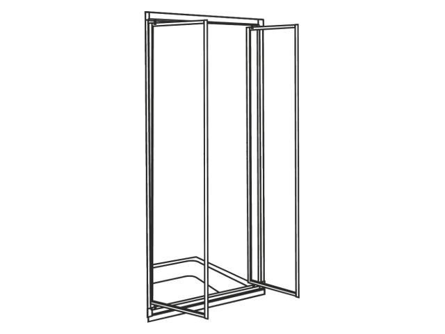 Drzwi prysznicowe AKORD skrzydłowe 90cm szkło hartowane ze wzorem CREPI biały RDRF90202000 Koło