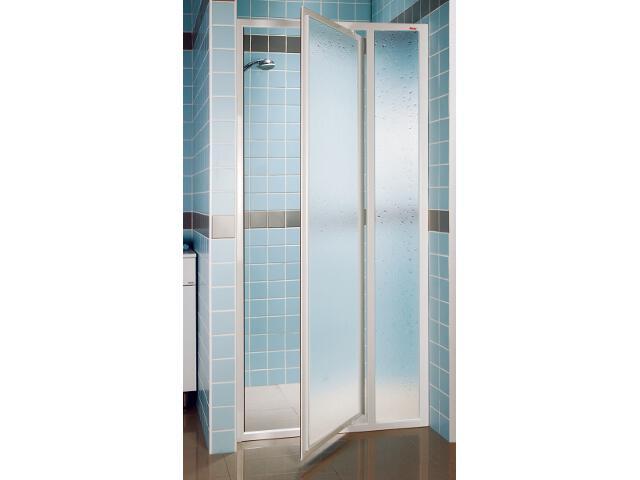 Drzwi prysznicowe SUPERNOVA SDOP-80 profil biały, polistyren pearl 03V4010011 Ravak