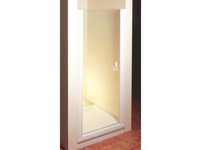 Drzwi prysznicowe ELEGANCE ESD1-80 L profil biały, szkło transparentne 0EL40100Z1 Ravak