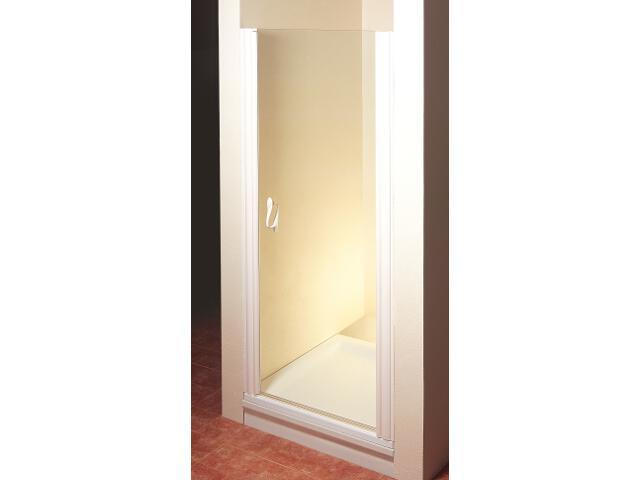 Drzwi prysznicowe ELEGANCE ESD1-80 P profil biały, szkło transparentne 0EP40100Z1 Ravak