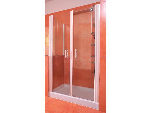 Drzwi prysznicowe ELEGANCE ESD2-120 profil biały, szkło transparentne 0HVG0100Z1 Ravak