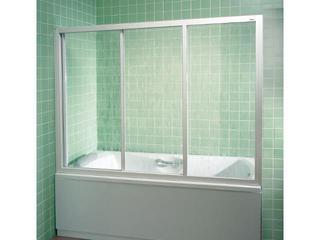 Drzwi prysznicowe nawannowe SUPERNOVA AVDP3-150 profil biały, polistyren rain 40VP010241 Ravak
