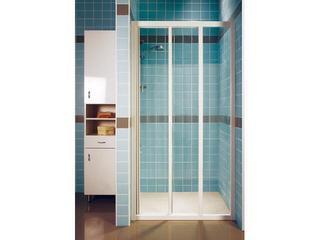 Drzwi prysznicowe SUPERNOVA ASDP3-130 profil biały, szkło transparentne 00VJ0102Z1 Ravak