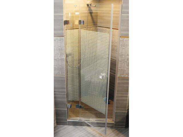 Drzwi prysznicowe GLASSLINE MATRIX GSD2-90 B-L profil chrom, szkło wzór 09L7BA00ZM Ravak