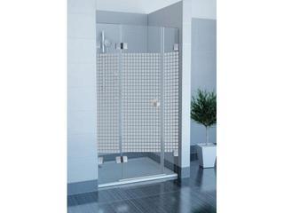 Drzwi prysznicowe GLASSLINE MATRIX GSD3-110 L profil chrom, szkło wzór 09LD0A00ZM Ravak