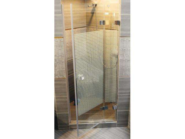 Drzwi prysznicowe GLASSLINE MATRIX GSD2-90 B-P profil chrom, szkło wzór 09P7BA00ZM Ravak