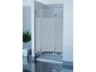 Drzwi prysznicowe GLASSLINE MATRIX GSD3-110 P profil chrom, szkło wzór 09PD0A00ZM Ravak
