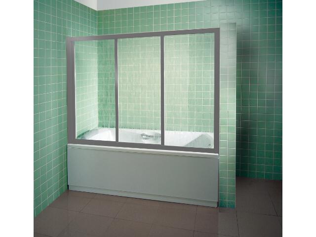 Drzwi prysznicowe nawannowe SUPERNOVA AVDP3-120 profil satyna, polistyren rain 40VG0U0241 Ravak