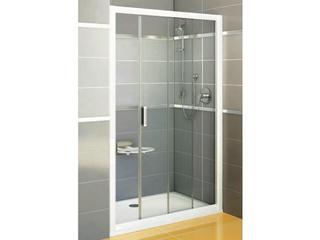 Drzwi prysznicowe RAPIER NRDP2-110 P profil biały, szkło transparentne 0NND010PZ1 Ravak