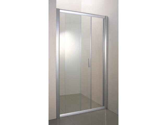 Drzwi prysznicowe RAPIER NRDP2-120 L profil satyna, szkło transparentne 0NNG0U0LZ1 Ravak