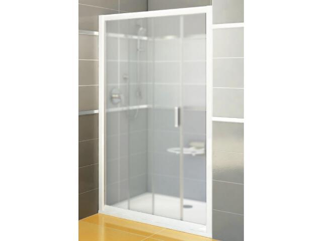 Drzwi prysznicowe RAPIER NRDP2-120 L profil biały, szkło grape 0NNG010LZG Ravak