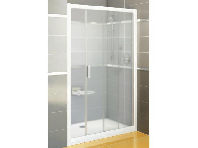 Drzwi prysznicowe RAPIER NRDP2-120 P profil biały, szkło grape 0NNG010PZG Ravak