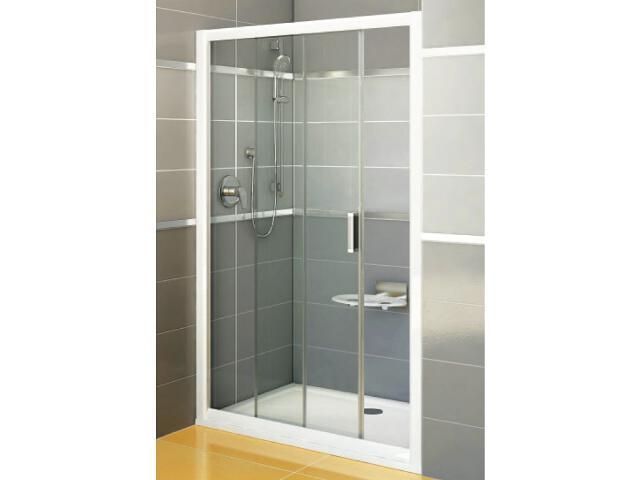 Drzwi prysznicowe RAPIER NRDP2-120 L profil biały, szkło transparentne 0NNG010LZ1 Ravak