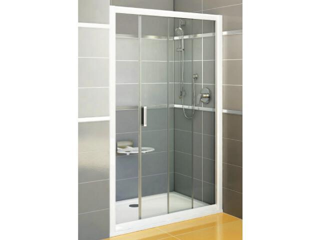 Drzwi prysznicowe RAPIER NRDP2-120 P profil biały, szkło transparentne 0NNG010PZ1 Ravak