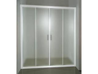 Drzwi prysznicowe RAPIER NRDP4-130 profil biały, szkło grape 0ONJ0100ZG Ravak