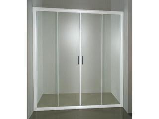 Drzwi prysznicowe RAPIER NRDP4-130 profil biały, szkło transparentne 0ONJ0100Z1 Ravak