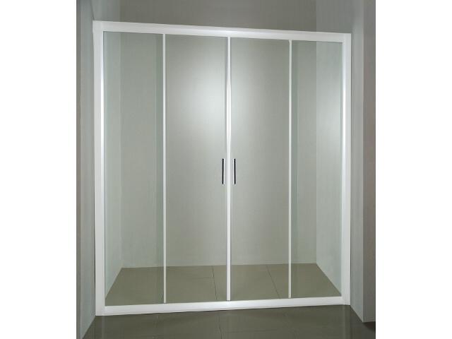 Drzwi prysznicowe RAPIER NRDP4-150 profil biały, szkło transparentne 0ONP0100Z1 Ravak