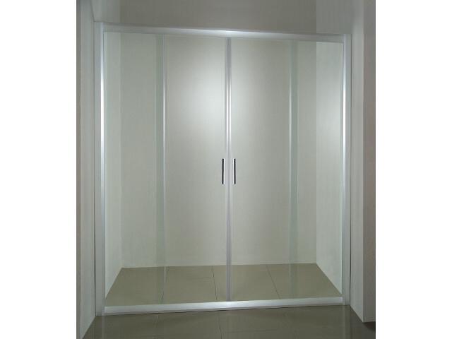 Drzwi prysznicowe RAPIER NRDP4-160 profil satyna, szkło transparentne 0ONS0U00Z1 Ravak