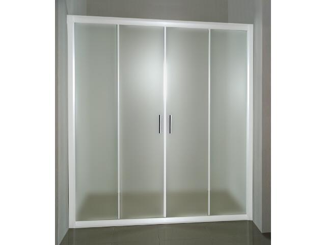 Drzwi prysznicowe RAPIER NRDP4-160 profil biały, szkło grape 0ONS0100ZG Ravak
