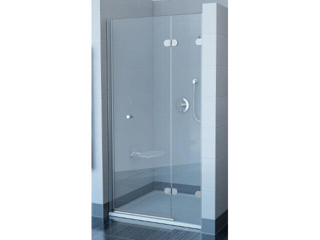 Drzwi prysznicowe GLASSLINE GSD2-80 B-P, szkło transparentne, wys. 200mm 09P4BA0KZ1 Ravak
