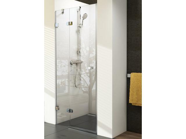 Drzwi prysznicowe BRILLIANT BSD2-80 A-L profil chrom, szkło transparentne 0UL4AA00Z1 Ravak