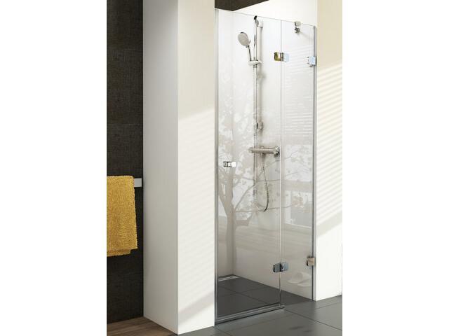 Drzwi prysznicowe BRILLIANT BSD2-80 B-P profil chrom, szkło transparentne 0UP4BA00Z1 Ravak