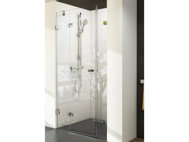 Drzwi prysznicowe BRILLIANT BSD3-110 L profil chrom, szkło transparentne 0ULD0A00Z1 Ravak