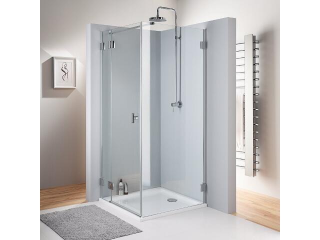 Ścianka prysznicowa boczna NIVEN boczna profil srebrny połysk, szkło hartowane FSKX90222003 Koło