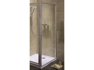 Ścianka prysznicowa boczna AKORD 80cm szkło hartowane, profil srebrny półmat RSKS80222005 Koło
