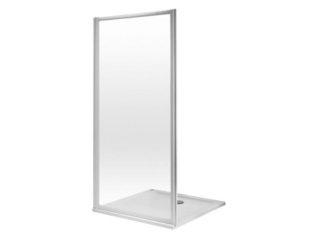Ścianka prysznicowa boczna ATOL PLUS 80cm szkło hartowane, profil biały ESKS80222000 Koło