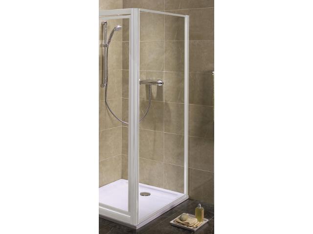 Ścianka prysznicowa boczna AKORD 80cm szkło hartowane, profil biały RSKS80222000 Koło
