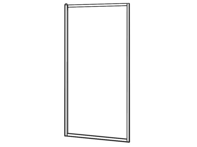 Ścianka prysznicowa boczna AKORD 80cm szkło hartowane ze wzorem CREPI RSKS80202000 Koło