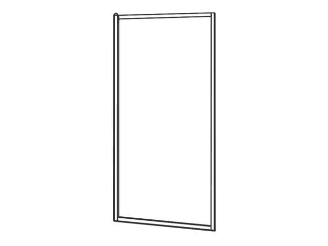 Ścianka prysznicowa boczna ATOL PLUS 90cm szkło hartowane ze wzorem CREPI ESKS90202000 Koło
