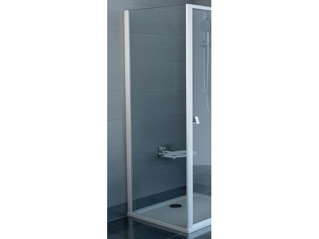 Ścianka prysznicowa boczna SUPERNOVA PSS-80 profil biały, szkło transparentne 94040100Z1 Ravak