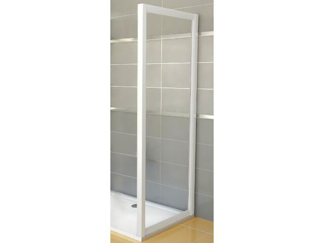 Ścianka prysznicowa boczna RAPIER RPS-100 profil biały, szkło transparentne 9RVA0100Z1 Ravak