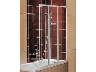 Parawan nawannowy ATOL trójczęściowy 140x140cm szkło hartowane, profil biały APN141222000 Koło